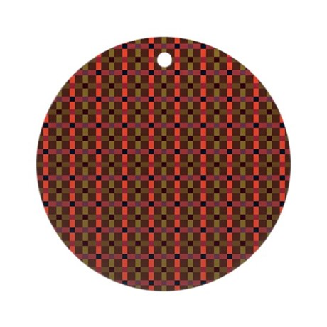 plaid city Ornament (Round)