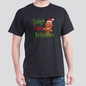 Gingerbreadman 1st Christmas Dark T-Shirt