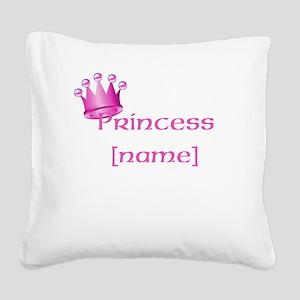 Personlized Princess Square Canvas Pillow