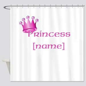 Personlized Princess Shower Curtain