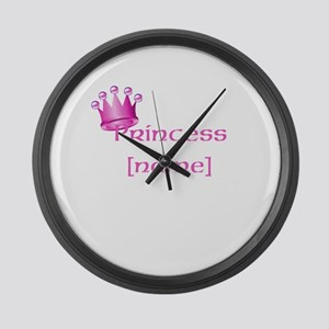 Personlized Princess Large Wall Clock