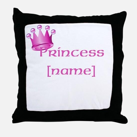 Personlized Princess Throw Pillow