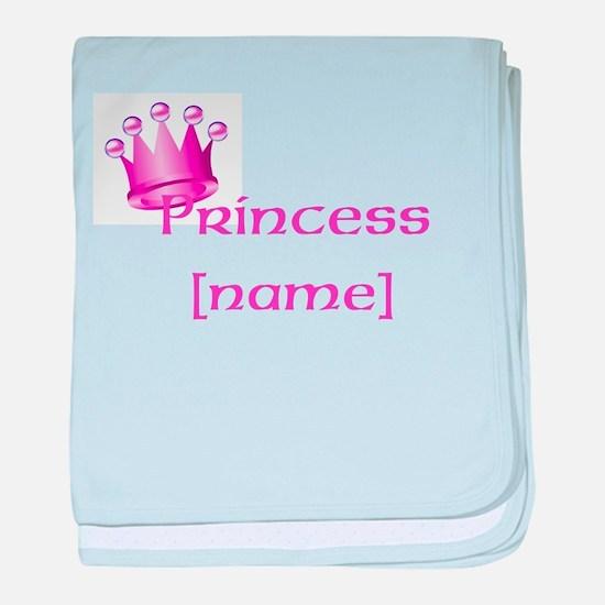 Personlized Princess baby blanket