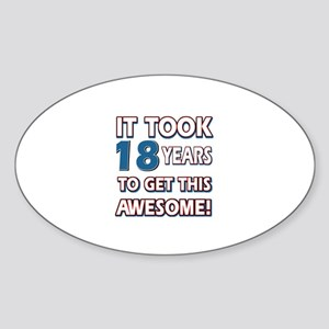 18 Year Old birthday gift ideas Sticker (Oval)