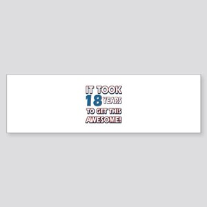 18 Year Old birthday gift ideas Sticker (Bumper)