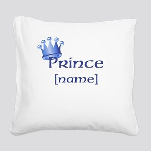 Prince with Personalized name Square Canvas Pillow