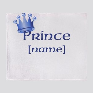 Prince with Personalized name Throw Blanket