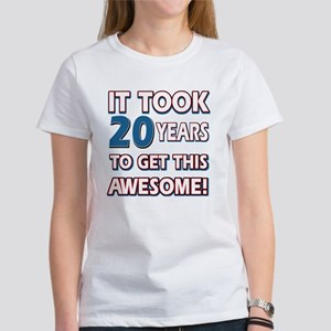 20 Year Old birthday gift ideas Women's T-Shirt