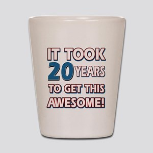 20 Year Old Birthday Gift Ideas Shot Glass