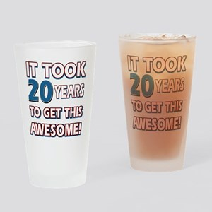 20 Year Old birthday gift ideas Drinking Glass