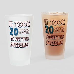 20 Year Old Birthday Gift Ideas Drinking Glass