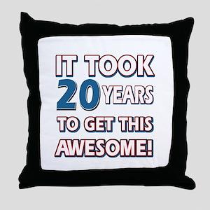 20 Year Old birthday gift ideas Throw Pillow