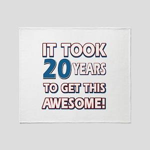 20 Year Old birthday gift ideas Throw Blanket