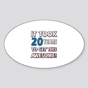 20 Year Old birthday gift ideas Sticker (Oval)