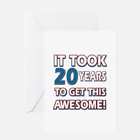 20th birthday 20th birthday greeting cards cafepress 20 year old birthday gift ideas greeting card bookmarktalkfo Choice Image
