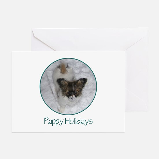 Pappy Holidays (puppy) Greeting Cards (Package of