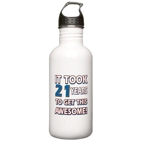 21 Year Old Birthday Gift Ideas Water Bottle By Swagteez
