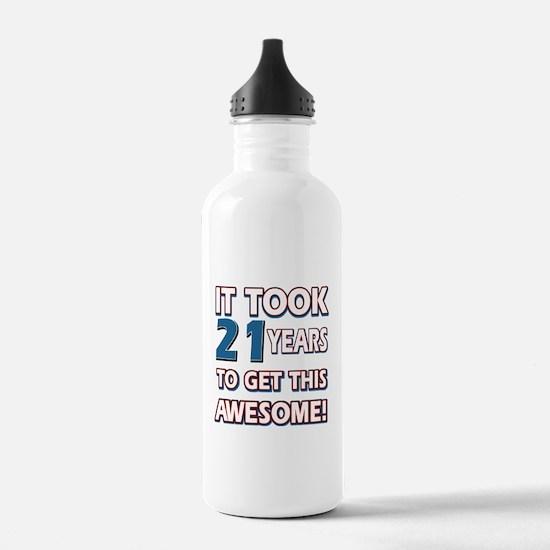 21 Year Old birthday gift ideas Water Bottle