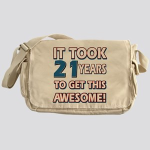 21 Year Old birthday gift ideas Messenger Bag