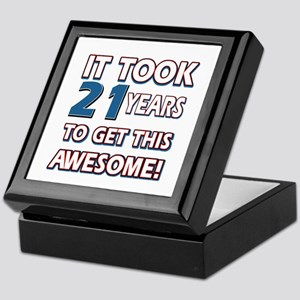 21 Year Old Birthday Gift Ideas Keepsake Box