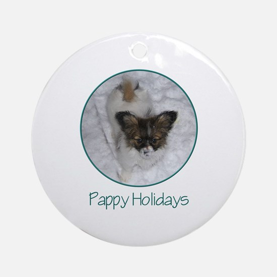 Pappy Holidays (puppy) Ornament (Round)