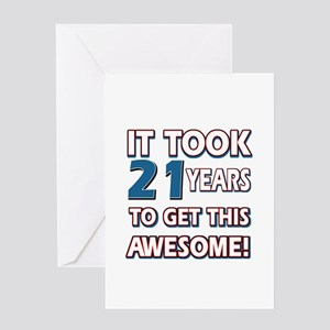 21st Birthday Greeting Cards Cafepress