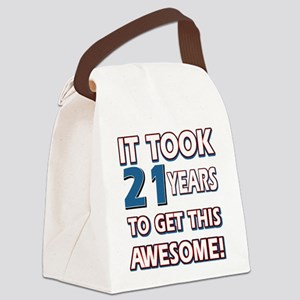 21 Year Old birthday gift ideas Canvas Lunch Bag
