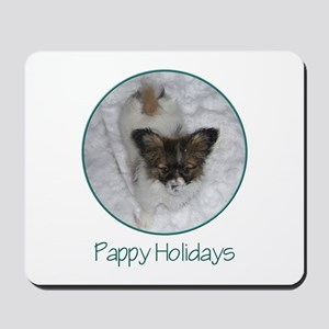 Pappy Holidays (puppy) Mousepad