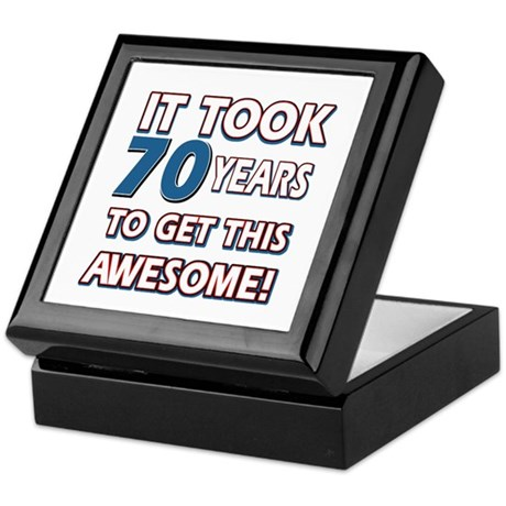 70 Year Old Birthday Gift Ideas Keepsake Box By Swagteez