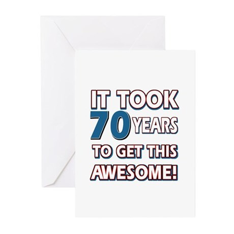 70 Year Old Birthday Gift Ideas Greeting Cards Pk By Swagteez