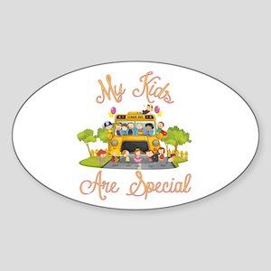 School bus Sticker (Oval 10 pk)
