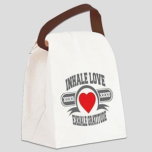 Inhale Love, Exhale Gratitude Canvas Lunch Bag