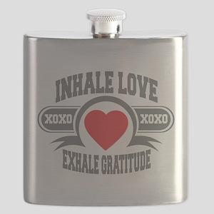 Inhale Love, Exhale Gratitude Flask