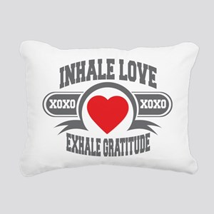 Inhale Love, Exhale Gratitude Rectangular Canvas P