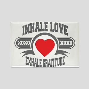 Inhale Love, Exhale Gratitude Rectangle Magnet