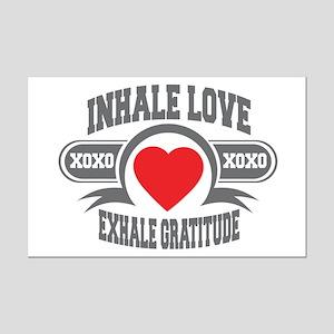 Inhale Love, Exhale Gratitude Mini Poster Print