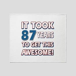 87 Year Old birthday gift ideas Throw Blanket