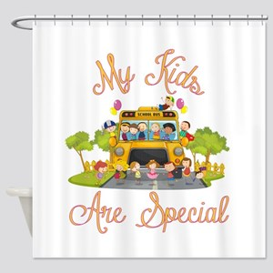 School bus driver Shower Curtain