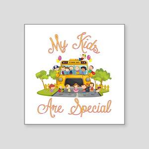 """School bus driver Square Sticker 3"""" x 3"""""""