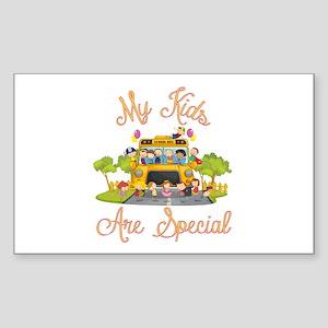 School bus driver Sticker (Rectangle)