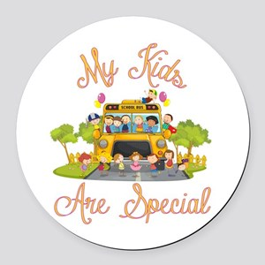 School bus driver Round Car Magnet