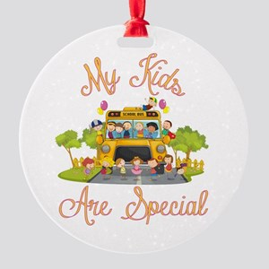 School bus driver Round Ornament