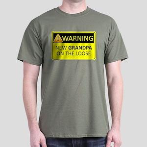 Warning: New Grandpa on the Loose Dark T-Shirt