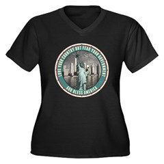 Fear Your Government Women's Plus Size V-Neck Dark