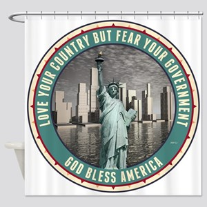 Fear Your Government Shower Curtain