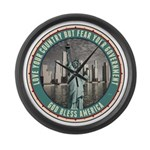 Fear Your Government Large Wall Clock