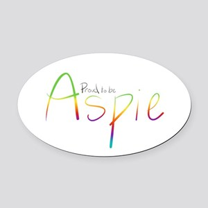 Proud to be Aspie Oval Car Magnet
