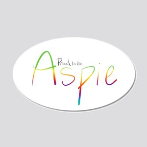 Proud to be Aspie 20x12 Oval Wall Decal