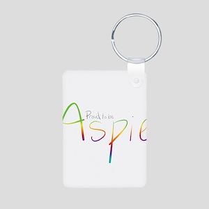 Proud to be Aspie Aluminum Photo Keychain