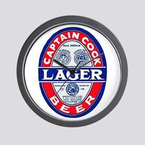 New Zealand Beer Label 9 Wall Clock
